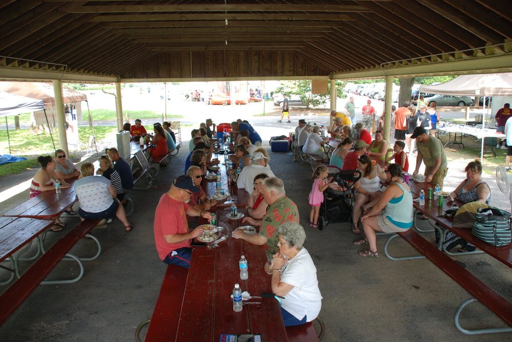 Members enjoying the Annual Detachment Picnic.