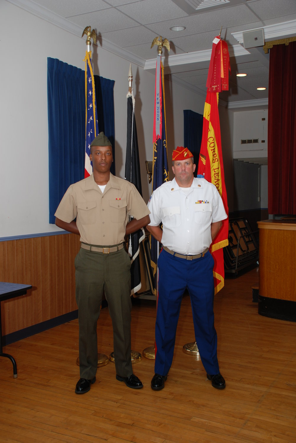 The detachment has a roster of marines that have served from the Korean War era to present day active duty