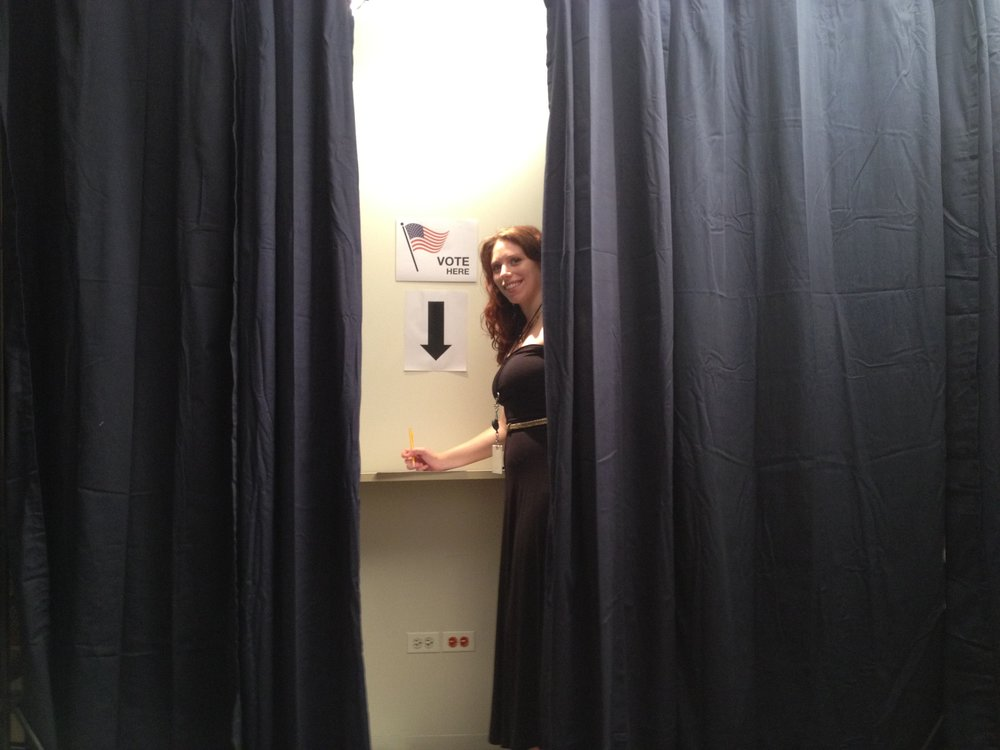Liz at the polls