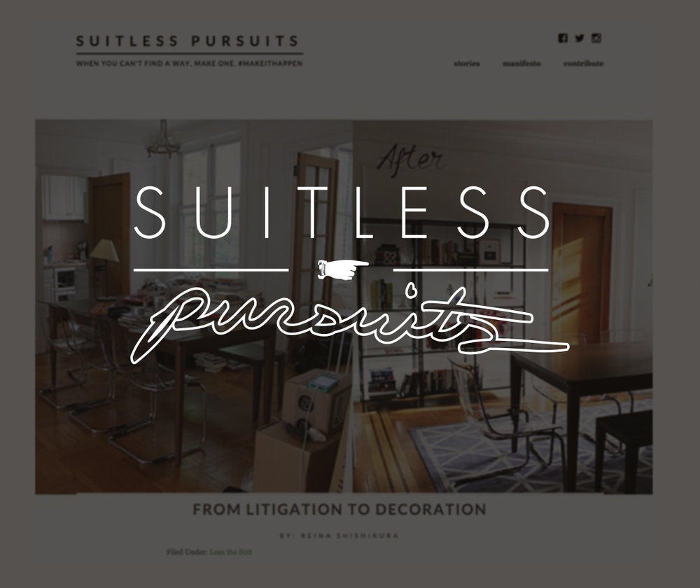 Suitless Pursuits, April 2015   From Litigation to Decoration