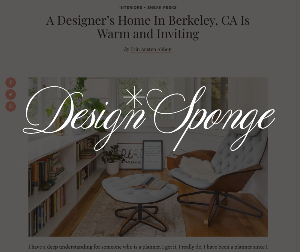 Design Sponge, December 2017   A Designer's Home In Berkeley, CA Is Warm and Inviting