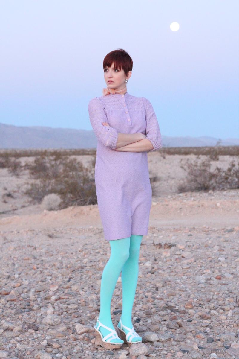 Vintage 60s Pastel Lavender Mod Dress