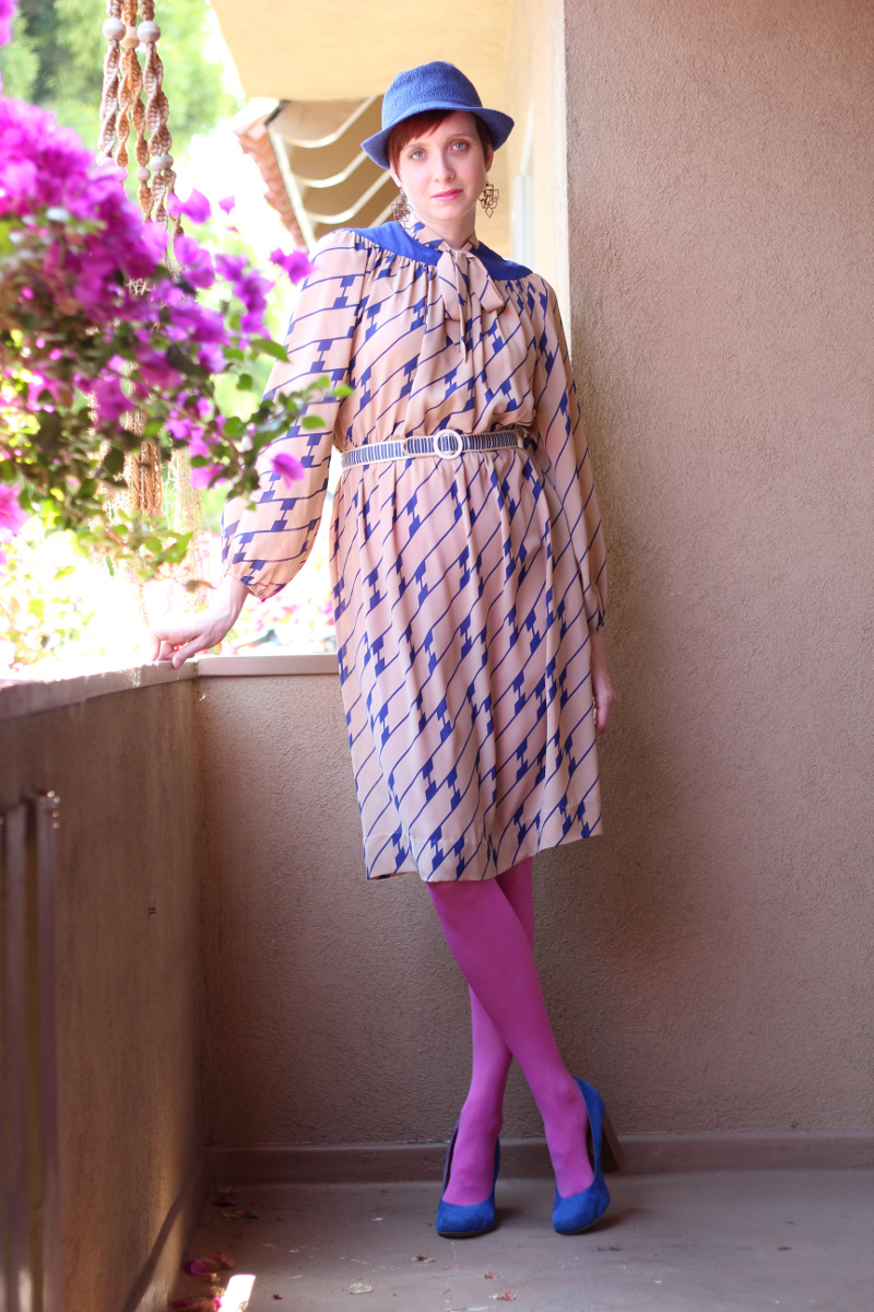 cobalt blue print secretary dress_2.jpg