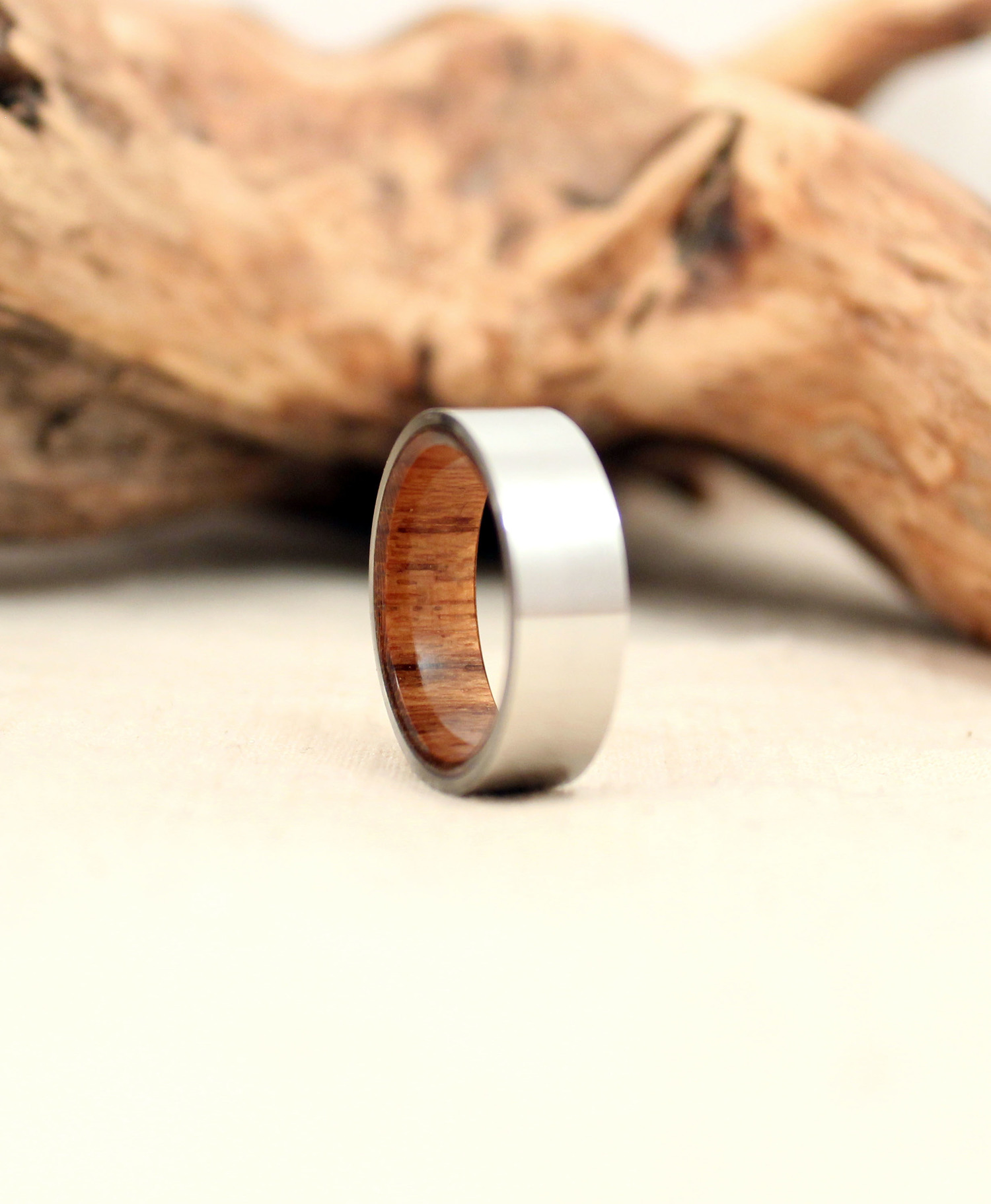 rings wood s and matte wedding products teak richter men black band scale duality titanium