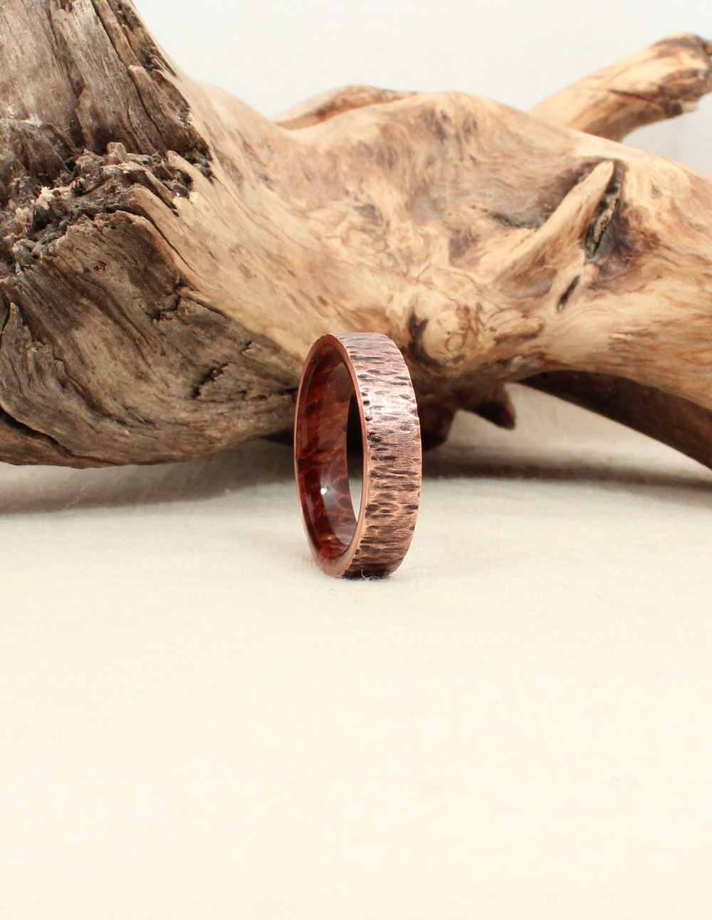 Redwood Burl and Rusticated Copper