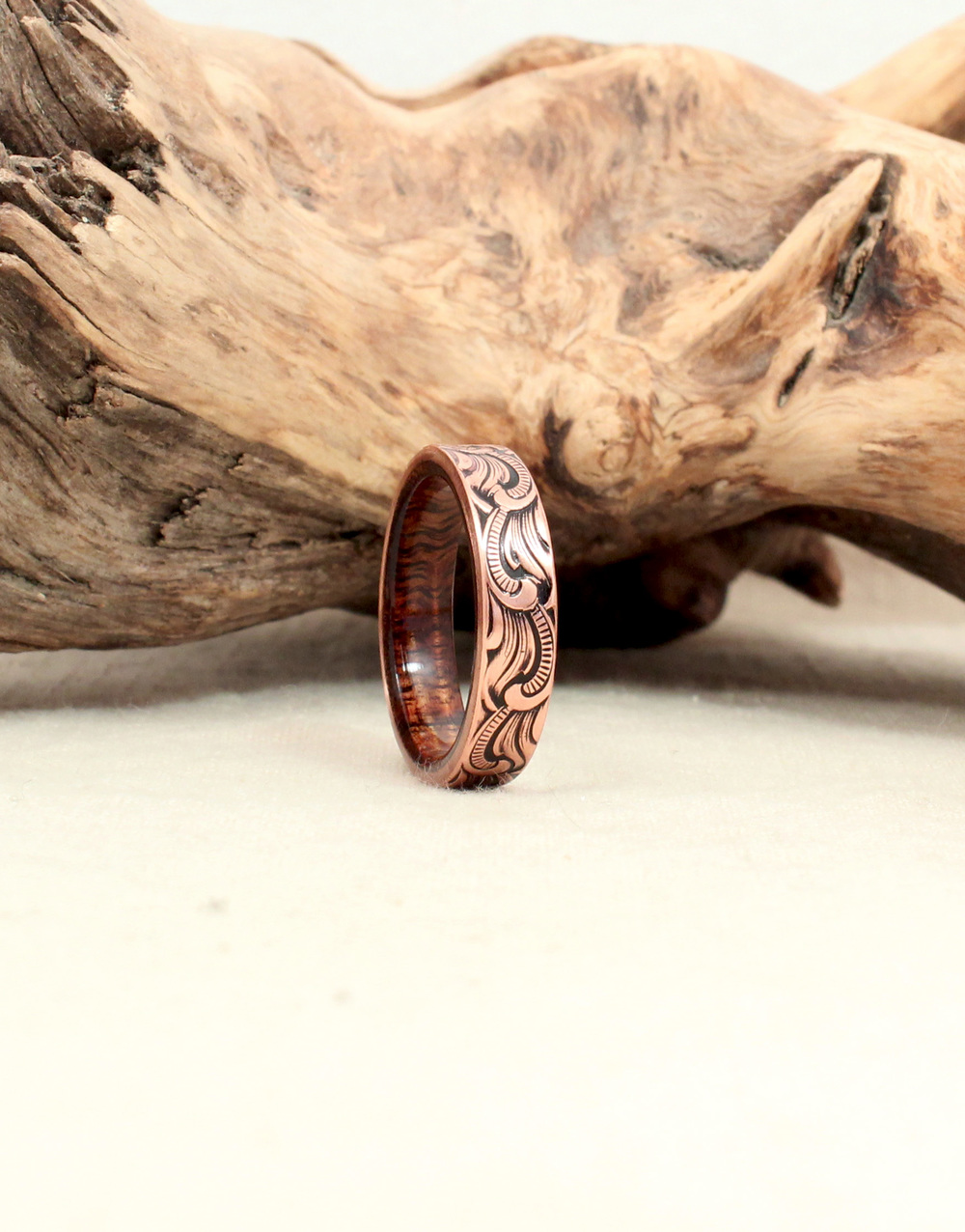 Curly Koa and Rusticated Copper