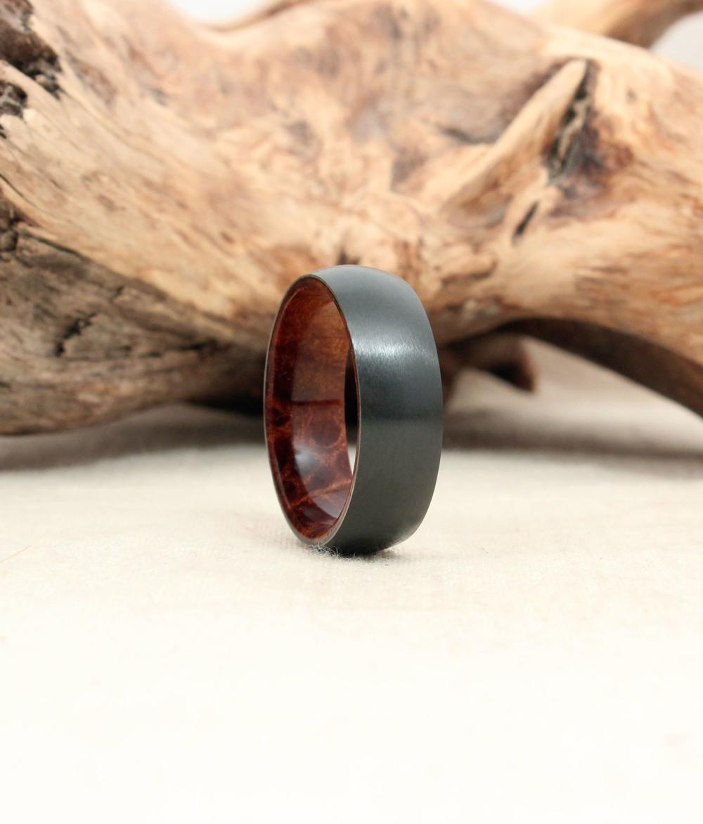 Black Zirconium and Stabilized Golden Redwood Burl
