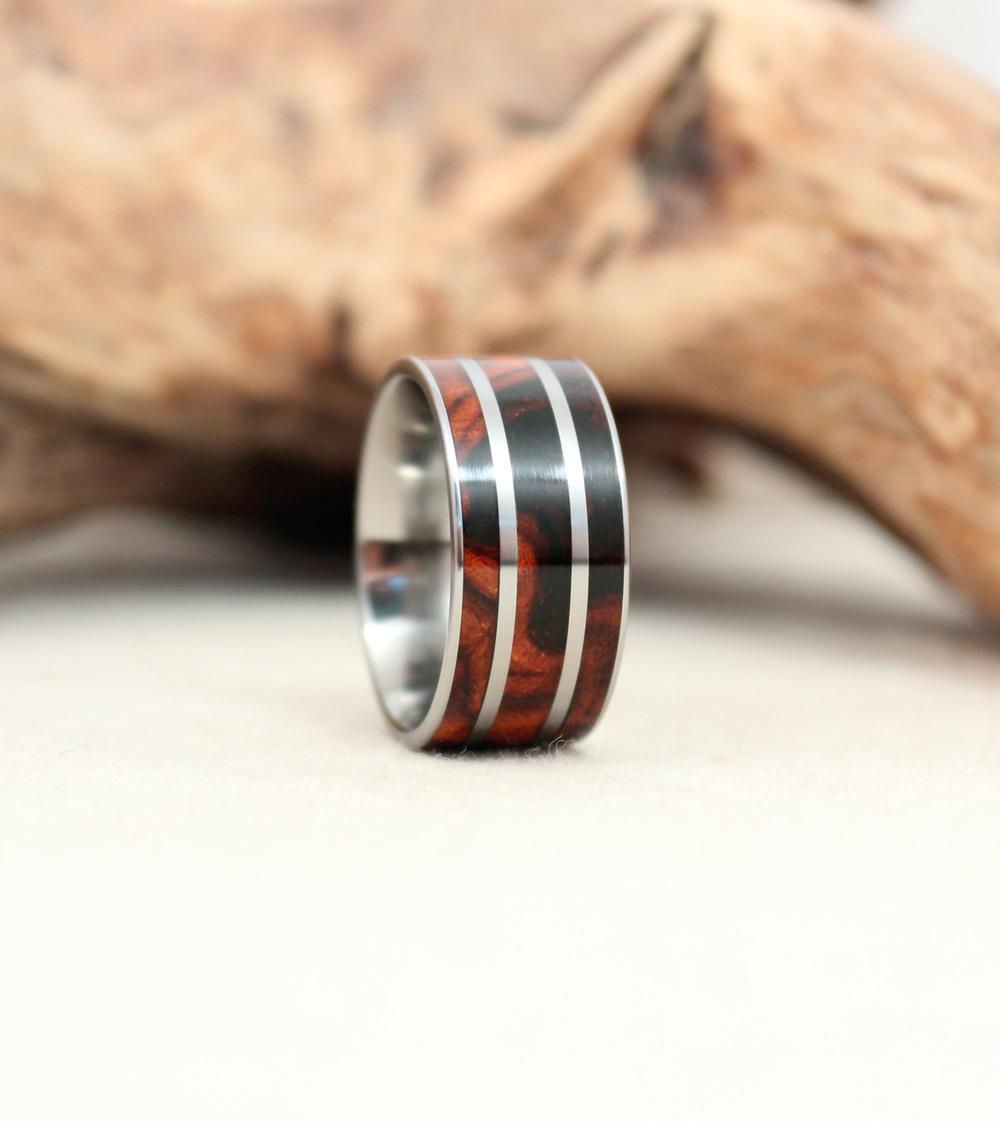 Arizona Desert Ironwood Burl Titanium Ring (retired design)
