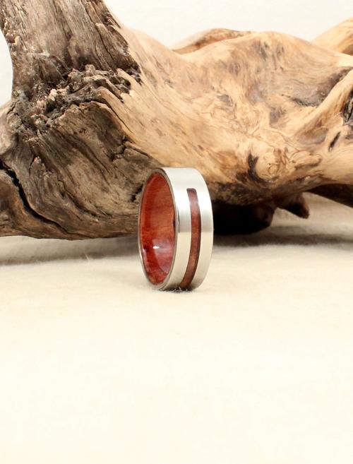 California Redwood Burl And Cobalt Wood Int Ext Ring Wedgewood Rings