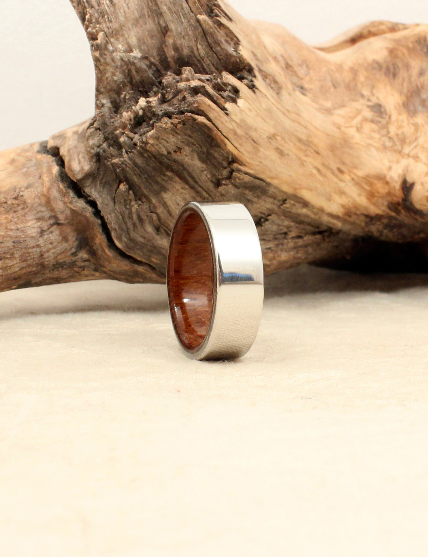 titanium band wedding teak duality wood metal products rings mens and men ring s