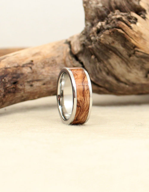 Bethlehem Olivewood Lined With Cobalt Ring Wedgewood Rings