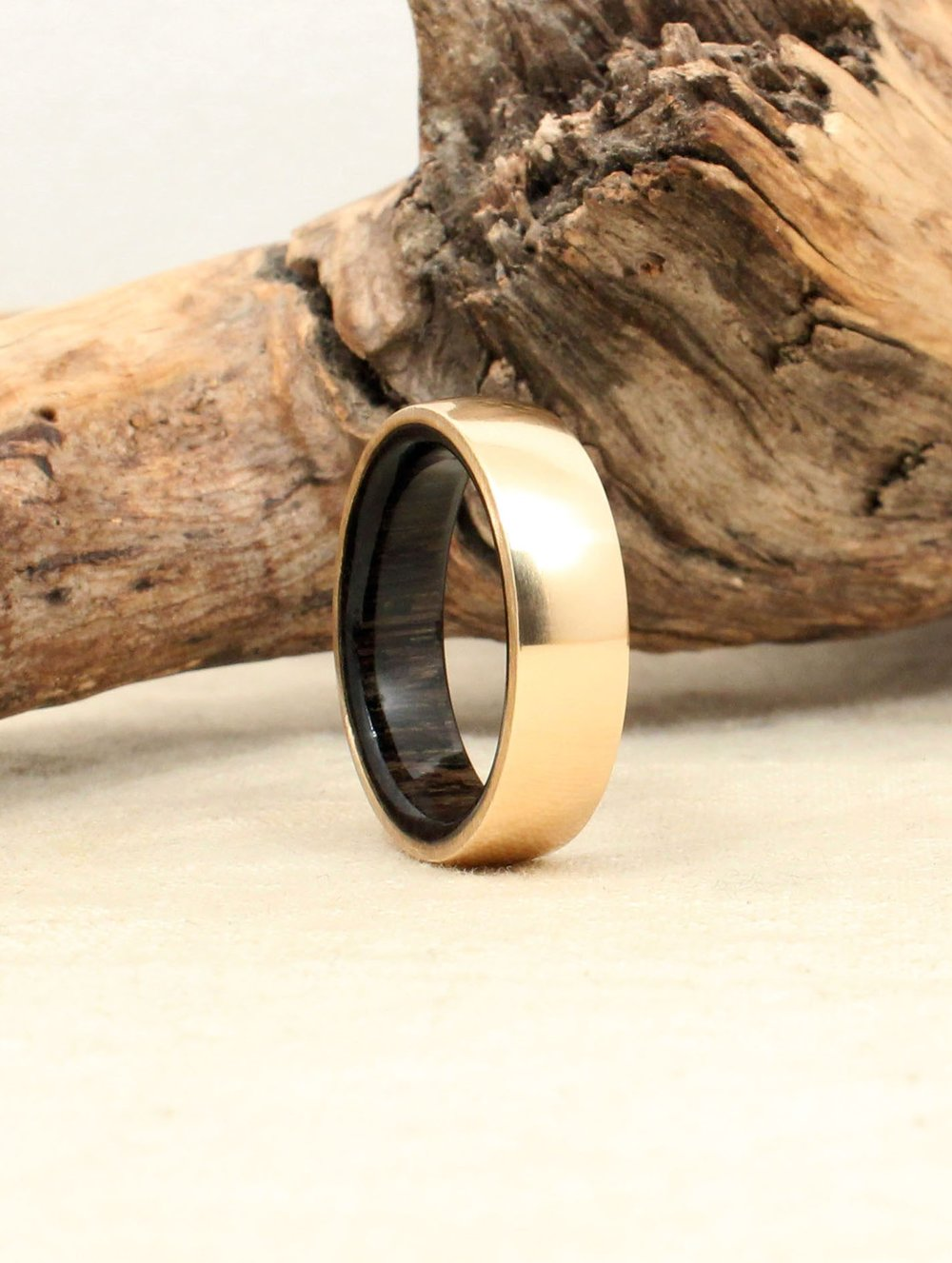 14k Gold and Ancient Russian Bog Oak