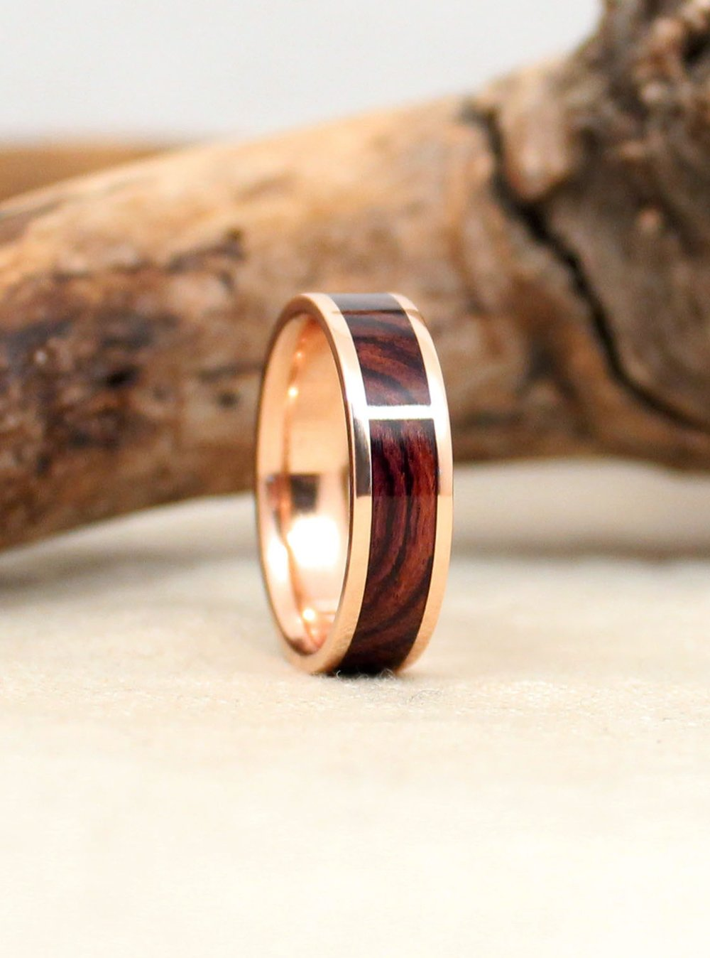 Rose Gold and Rosewood- Kingwood 14k Gold Ring