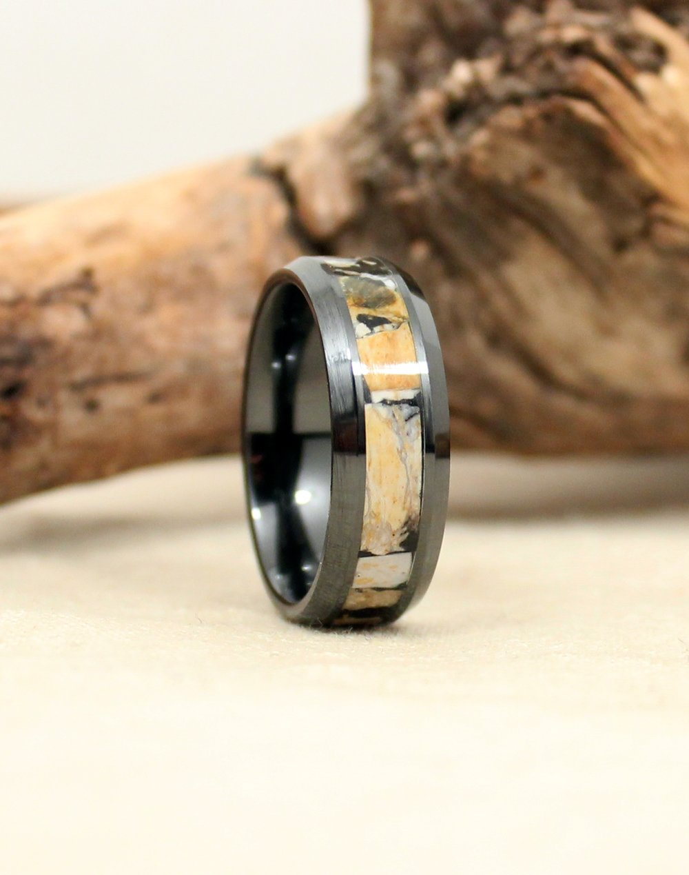 Black Ceramic Ring With Ancient Mammoth Ivory: Ancient Christian Wedding Rings At Reisefeber.org