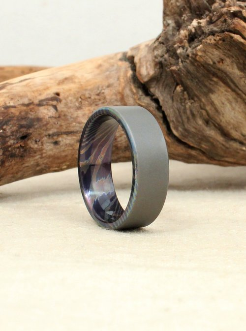 il in band wedding ring meteorite set titanium fullxfull jewellery zoom jfdo listing rings