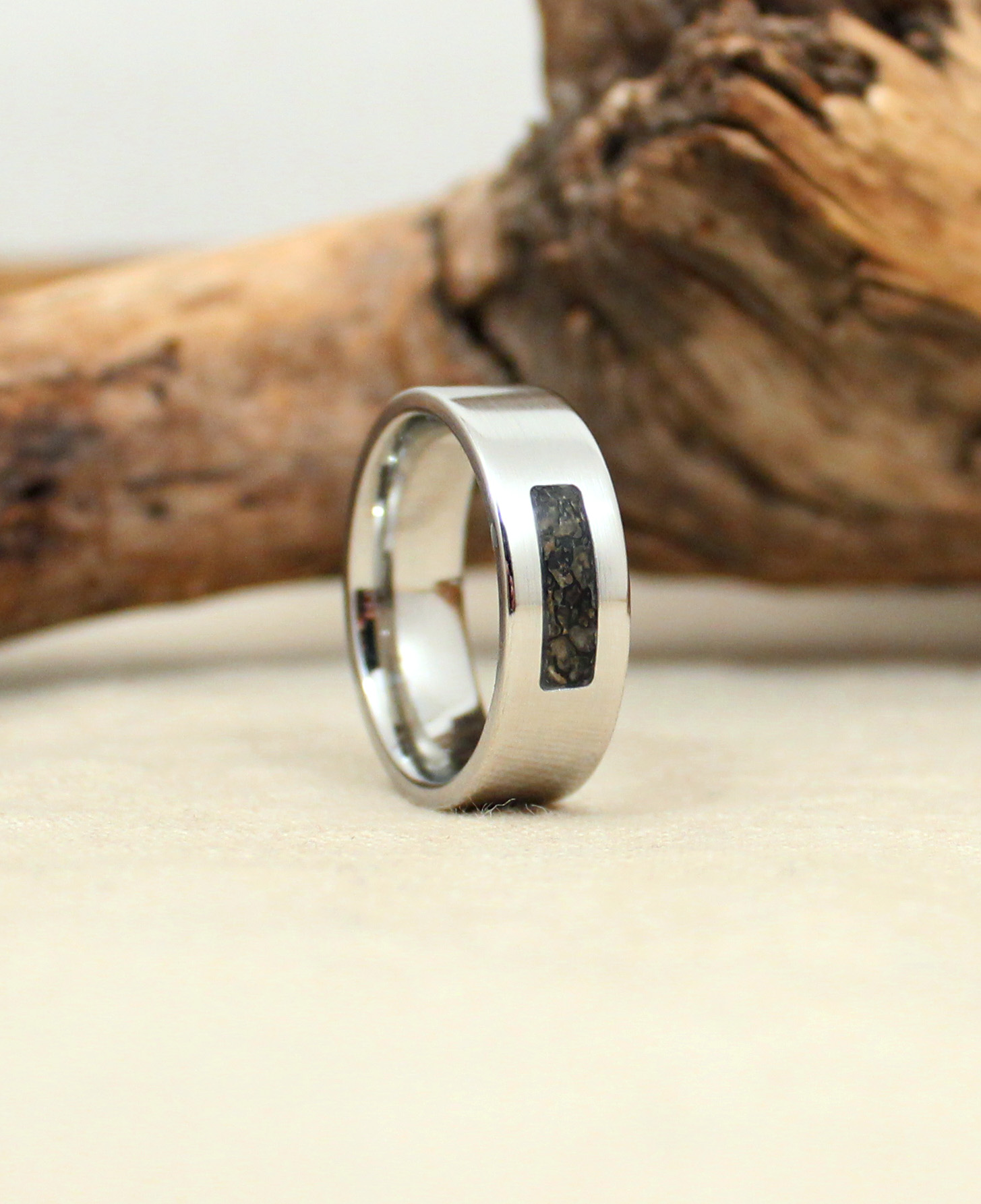 ring in photo titanium pertaining bone viewing rings wedding dinosaur attachment to meteorite of gallery engagement