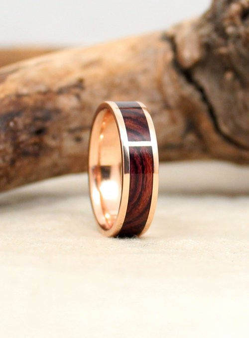 live in and flakes liner size gold ring oak inlay wedding rings wooden stock rosewood koa leaf with