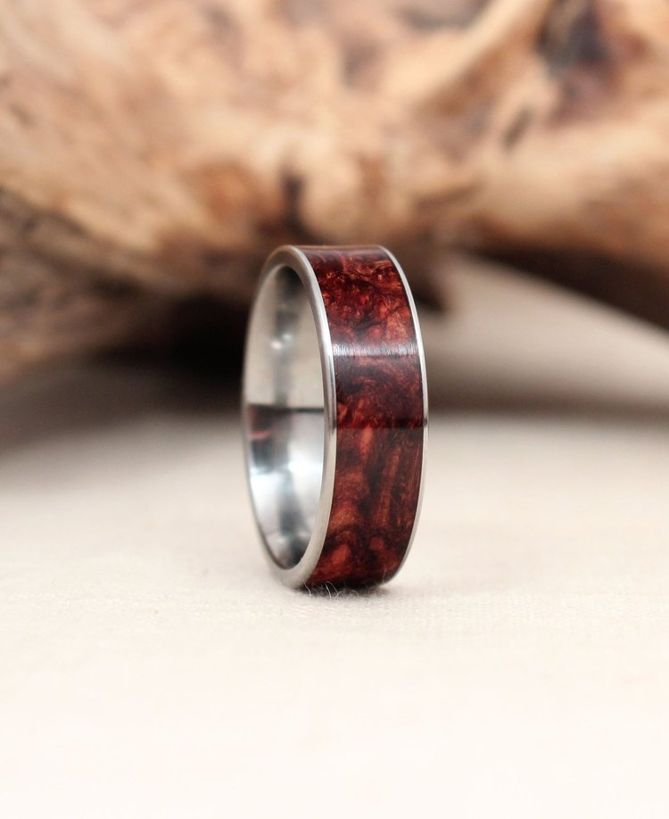 bevel and image tungsten rosewood timeless with inlay ursa edge ring rings