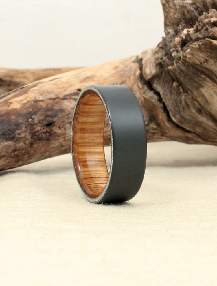 Sandblasted Black Zirconium with Macallan Scotch Barrel Oak