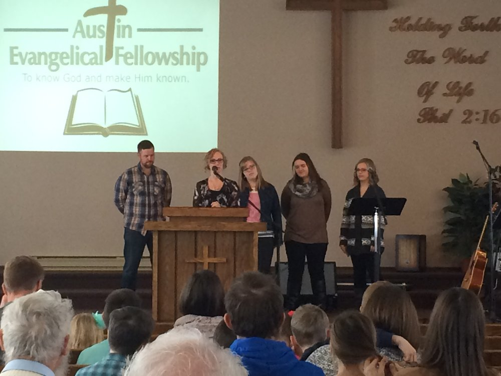 Jeff and Martha Rempel, Natalie Driedger, Kaylee Reimer, and Danae Driedger sharing about their experience at Treasured Foundation over the Christmas break.