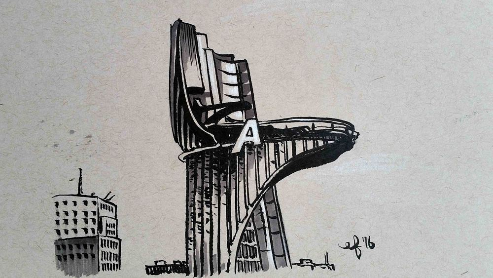 2016 366 project 108 stark tower elisa friesen art