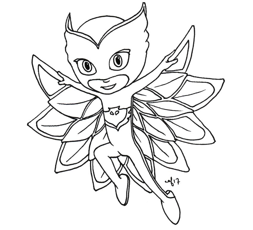 how to draw pj masks owlette