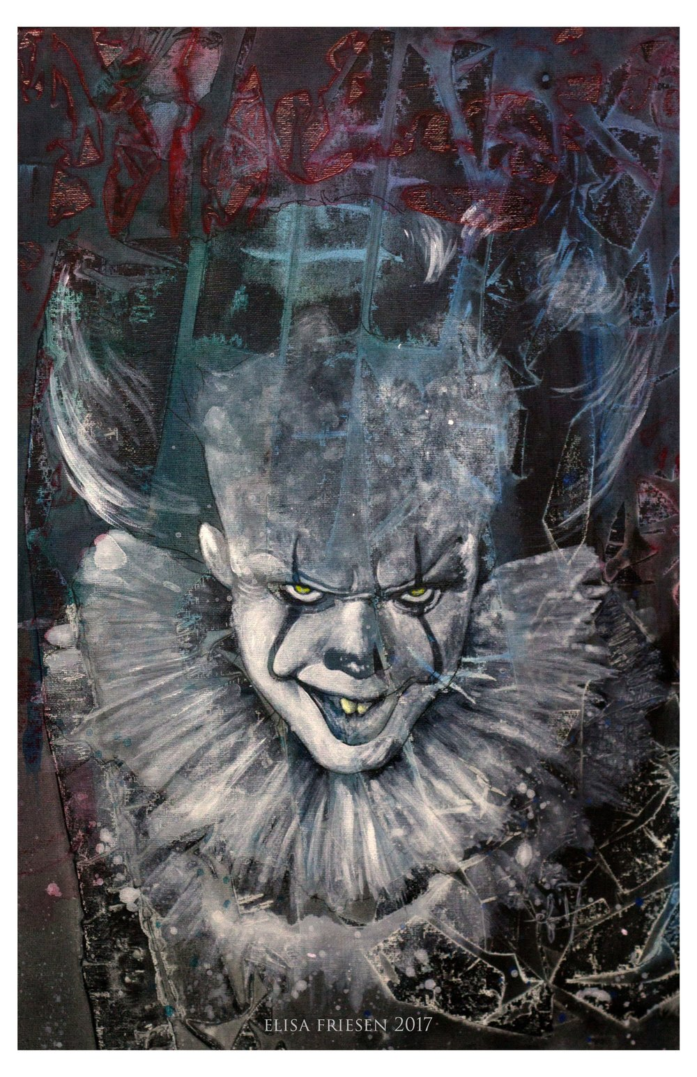 Pennywise, $500.00. Contact hello@elisafriesen.com to purchase.