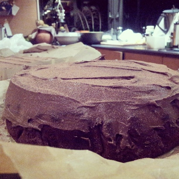 There it is again the #zucchinichocolatecake to yummy looking not to share.