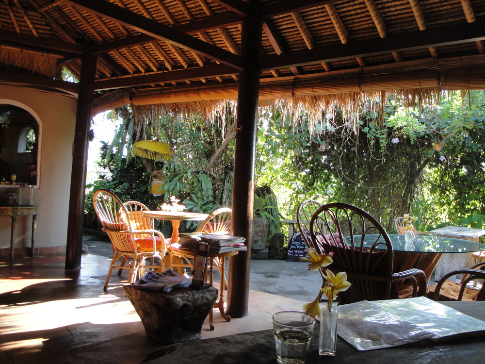 Morning peace at The Yellow Flower Cafe in Ubud.