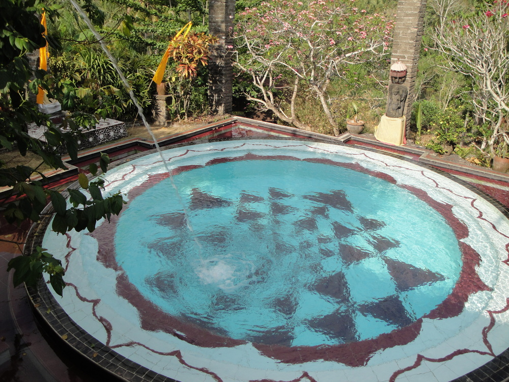 A Yantra swimming pool at Shankaris!