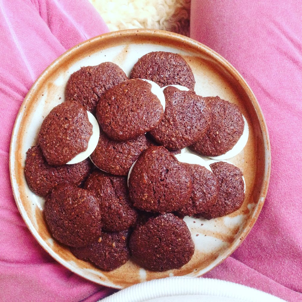 Chocolate Gingerbread Wafers