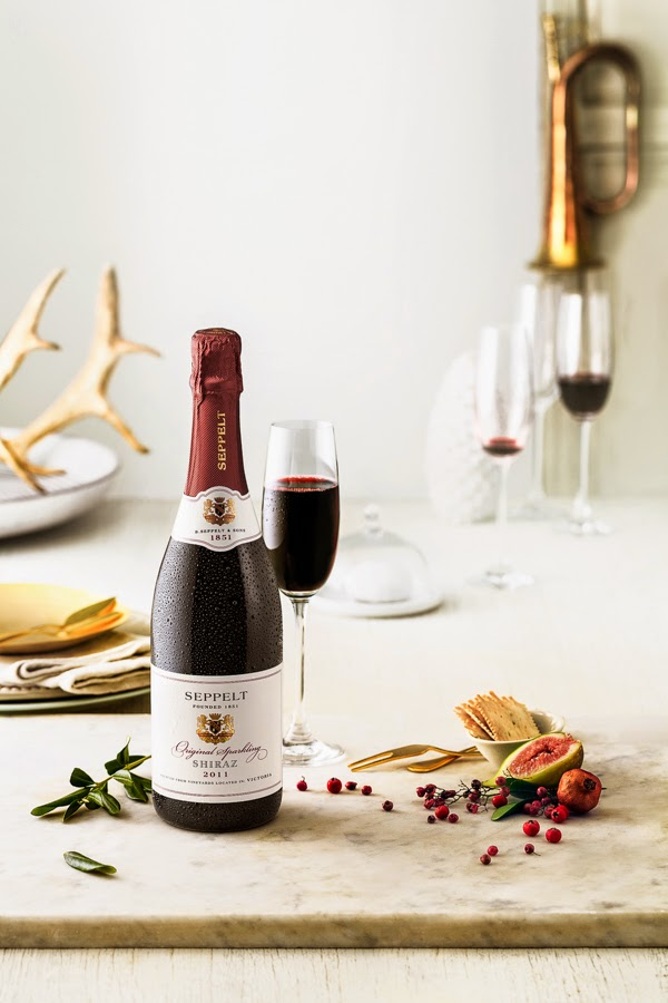 Seppelt wine with cheese with a Christmas theme for Sage Creative - Photography by Sarah Anderson