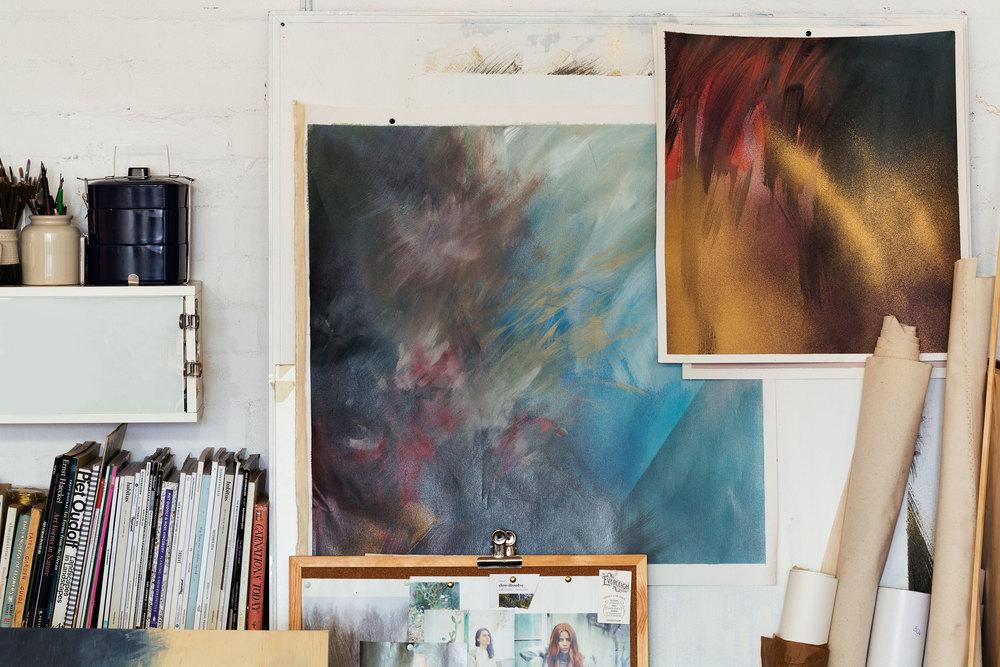Amy Wright  studio detail.
