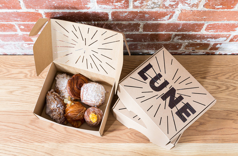 Croissants and Pastries by  Lune  and packaging design by  AFOM , printing by  PressPrint .
