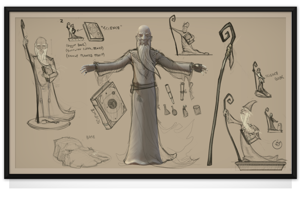 Man of Science (Over Sketch Designs)