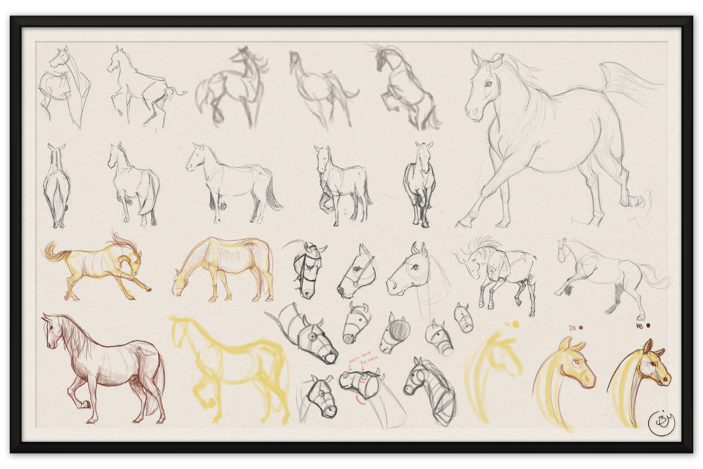 Horse Studies #1 (Digital)