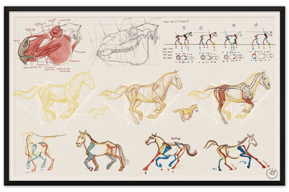 Horse Studies #2 (Digital)