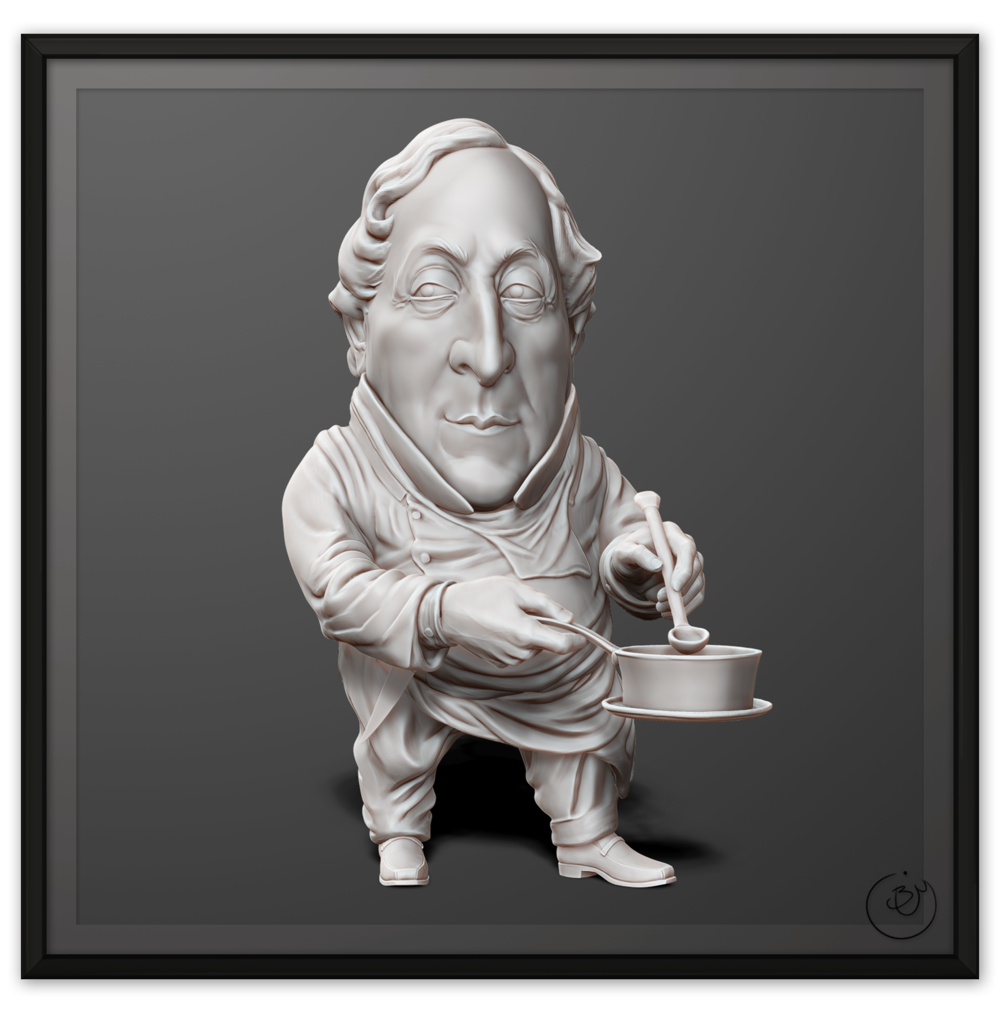 Gioachino Rossini Caricature (From Concept)