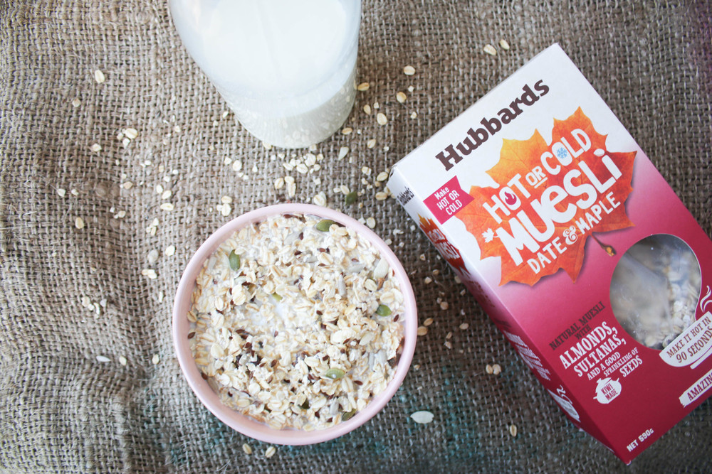 Hubbards Hot or Cold Muesli - Date & Maple with Macadamia Nut Milk | Ari Eats