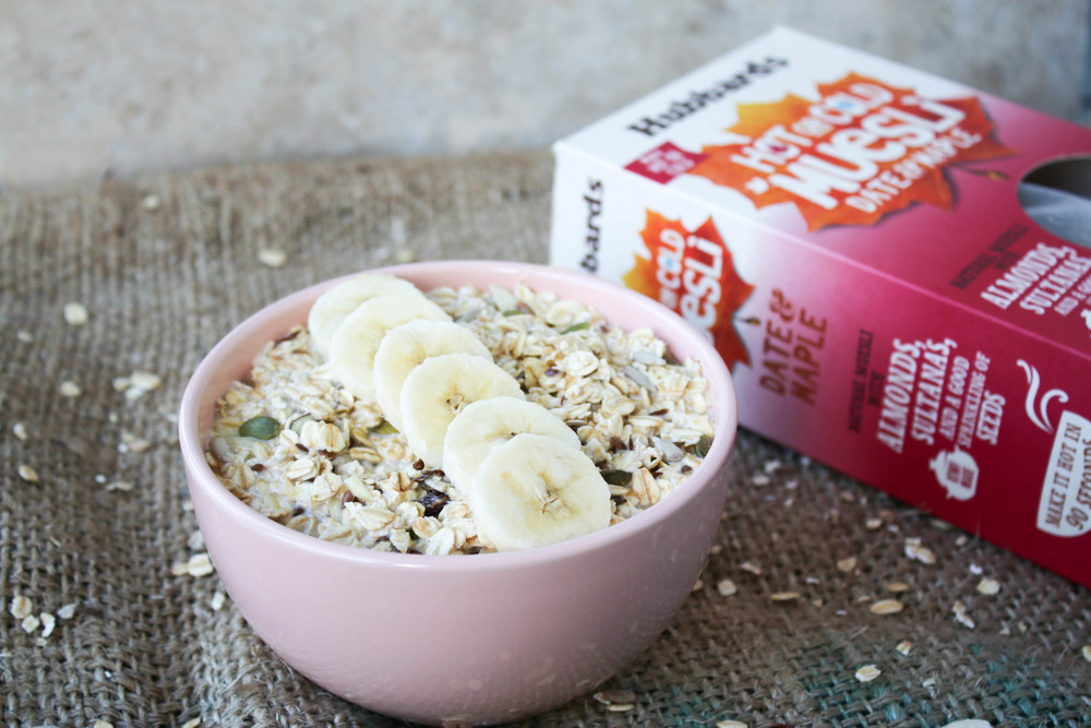 Hubbards Hot or Cold Muesli - Date & Maple with Macadamia Nut Milk and Banana | Ari Eats