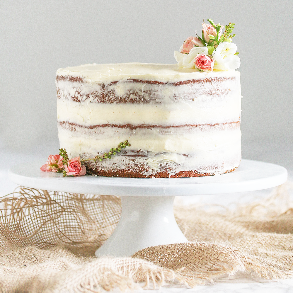 Three Layer Naked Banana Cake (Sugar & Gluten Free) — Ari Eats