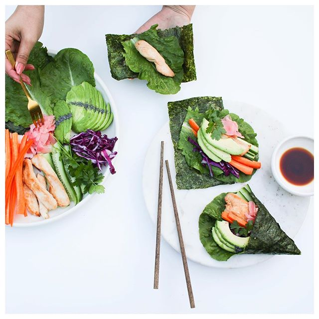 Nori Cone Wraps anyone? 😍 Literally can add whatever combo you want to these! Just adjust depending on what you like in your sushi 🍱🍙 These are low carb and bariatric friendly too! 🙌🏼🎉 This recipe is now live on www.arieats.com - link in my bio ❤️