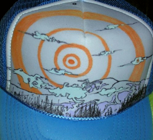Hand-Painted Mount Rainier