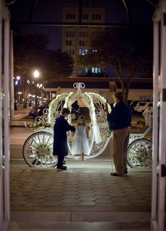 As in the fairy tale, the Cinderella Carriage will be drawn by a beautiful white horse(s). You'll remember this day for the rest of your life, why not make the fairy tale come true and rent the Cinderella Carriage for your Florida Wedding?
