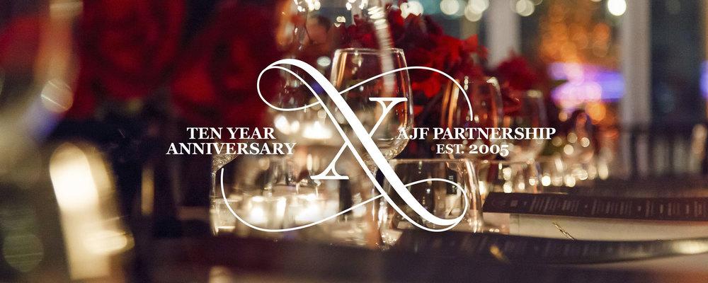 AJF Partnership Tenth Anniversary Soiree // Invitations