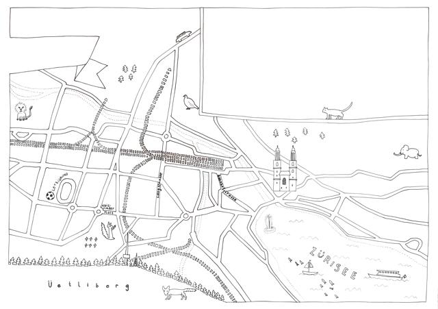 Karte Zürich