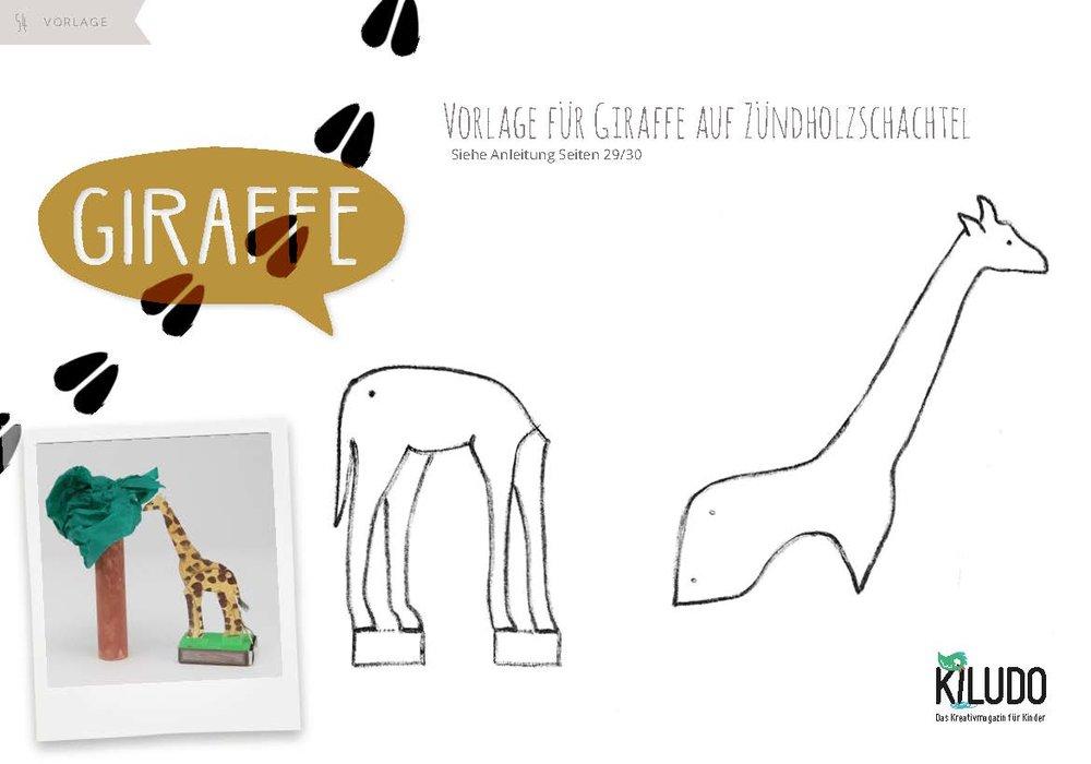 Giraffe basteln Vorlage