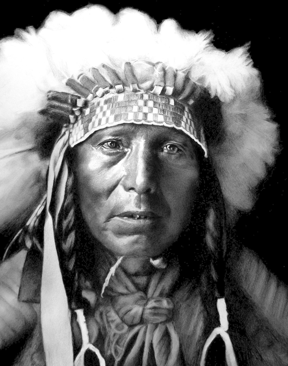 Red Star (from a photo by Edward S. Curtis)