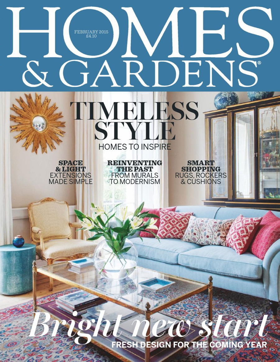 JUNGLE GEOMETRIC SCREEN | HOMES & GARDENS MAGAZINE | FEB 2015