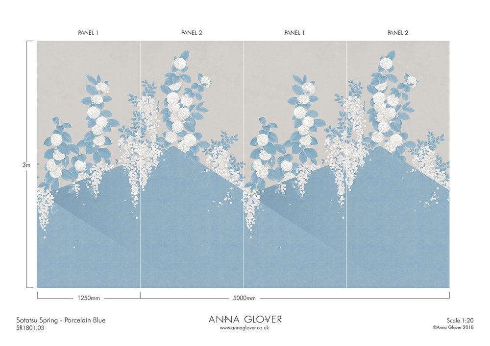 Sotatsu Spring Porcelain Blue SR1801.03